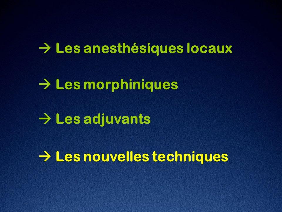  Les anesthésiques locaux