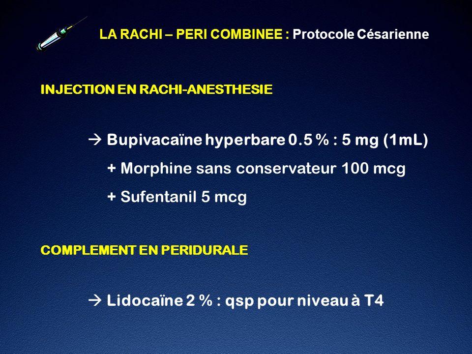  Bupivacaïne hyperbare 0.5 % : 5 mg (1mL)