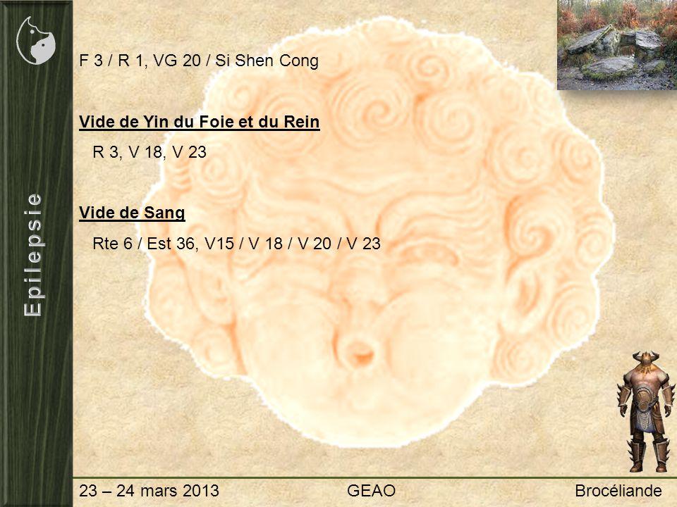 Epilepsie F 3 / R 1, VG 20 / Si Shen Cong