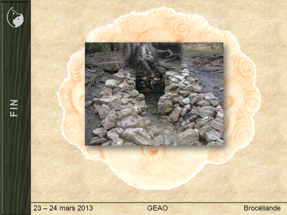FIN 23 – 24 mars 2013 GEAO Brocéliande.