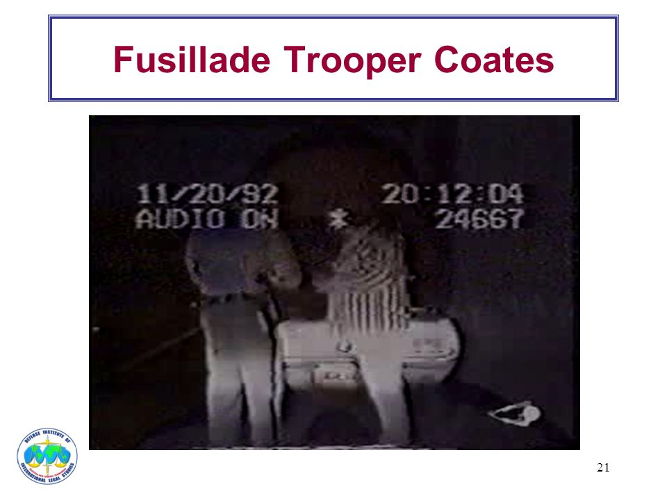 Fusillade Trooper Coates