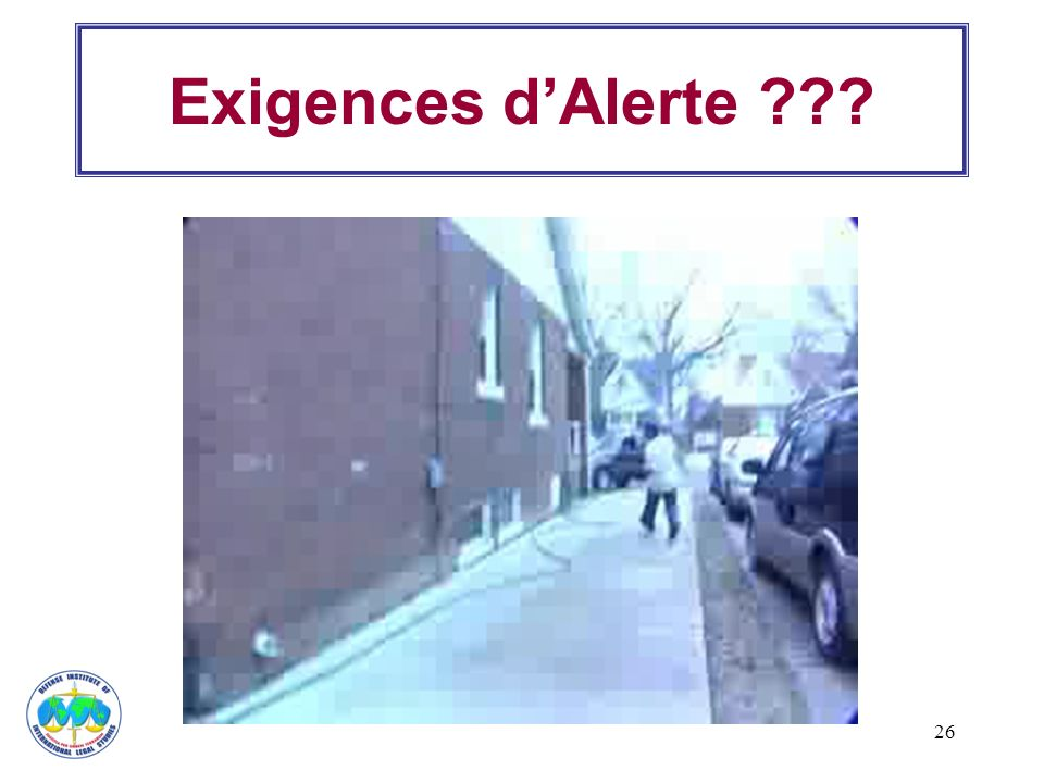 Exigences d'Alerte