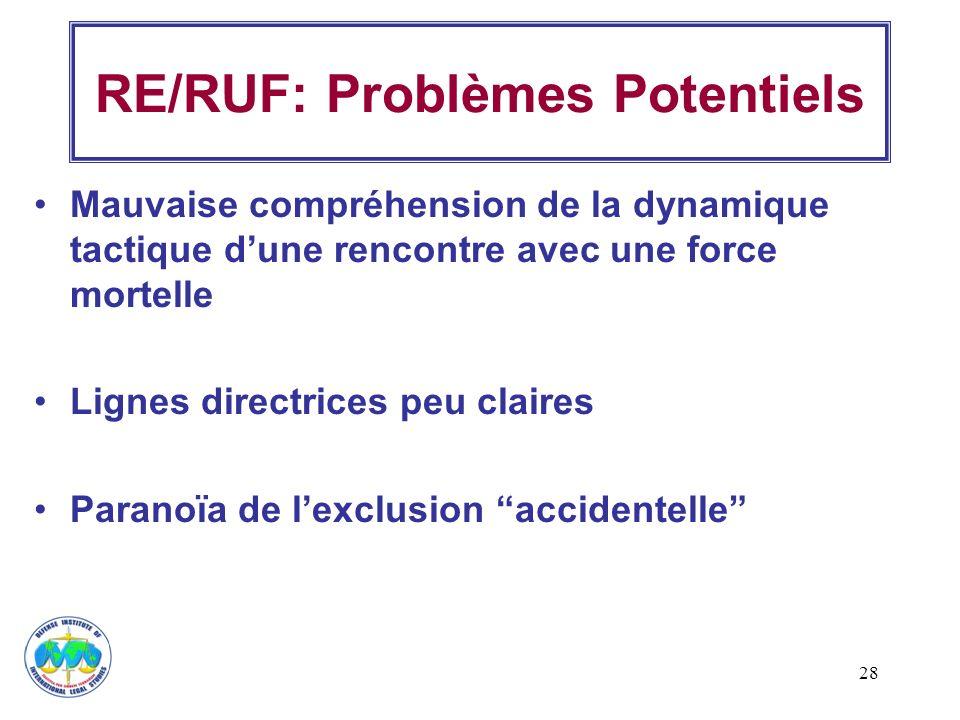 RE/RUF: Problèmes Potentiels