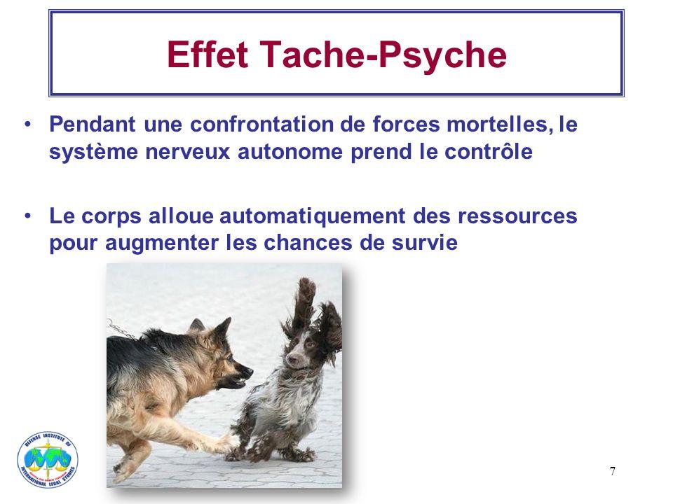 Effet Tache-Psyche Pendant une confrontation de forces mortelles, le système nerveux autonome prend le contrôle.