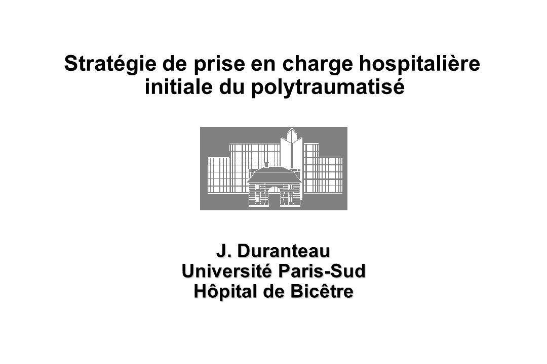 Stratégie de prise en charge hospitalière initiale du polytraumatisé