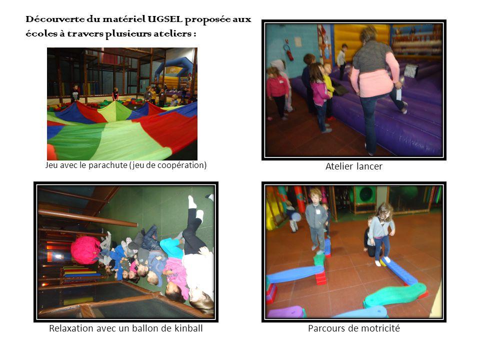 Découverte du matériel UGSEL proposée aux écoles à travers plusieurs ateliers :