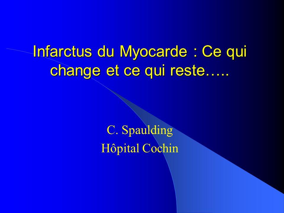 Infarctus du Myocarde : Ce qui change et ce qui reste…..
