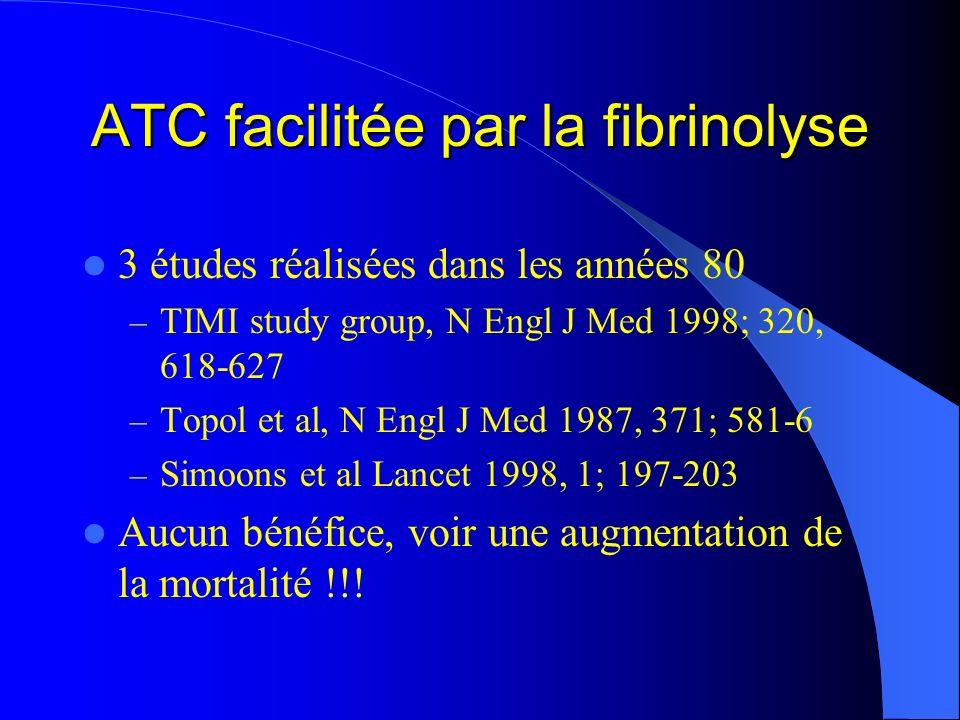ATC facilitée par la fibrinolyse