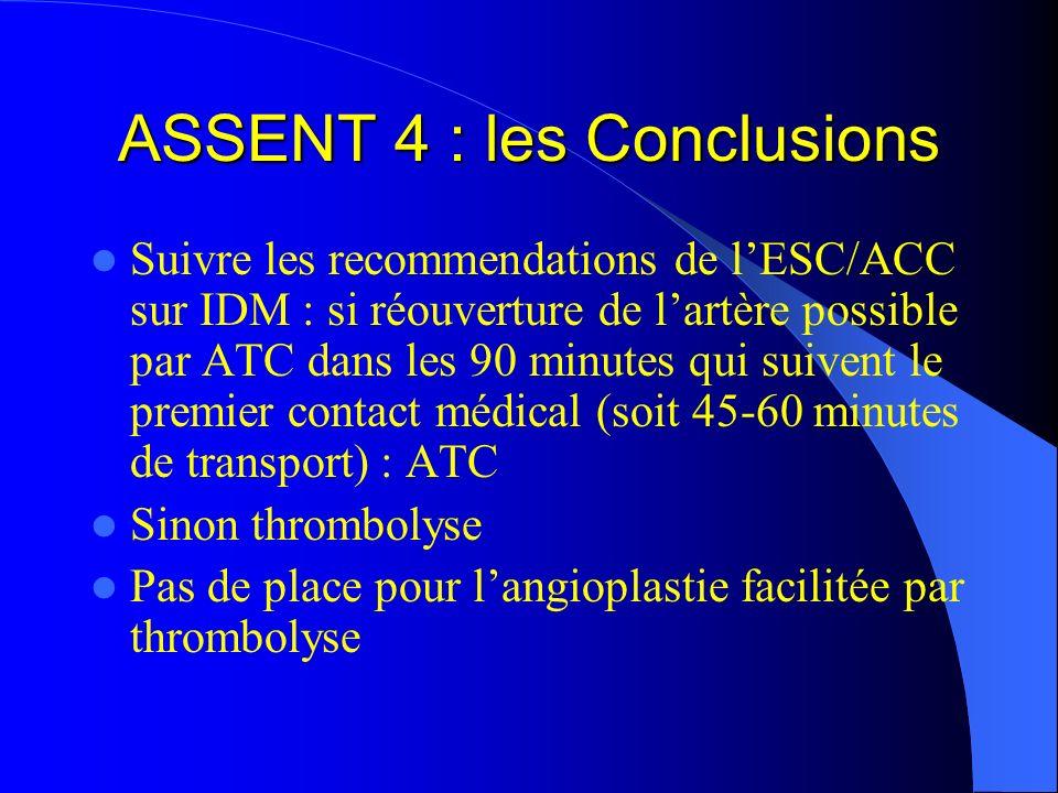 ASSENT 4 : les Conclusions