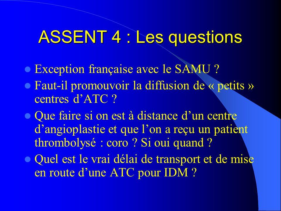 ASSENT 4 : Les questions Exception française avec le SAMU