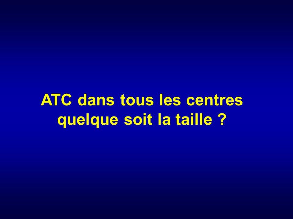 ATC dans tous les centres quelque soit la taille