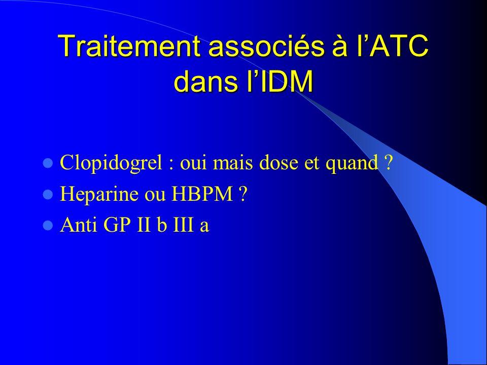 Traitement associés à l'ATC dans l'IDM