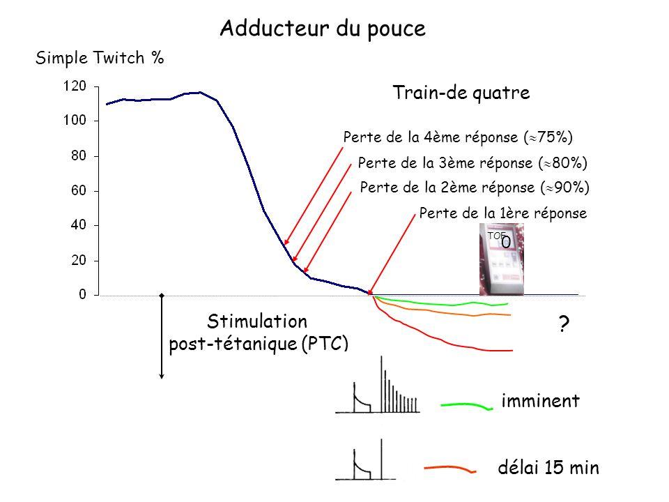 Adducteur du pouce Zone aveugle Train-de quatre Stimulation