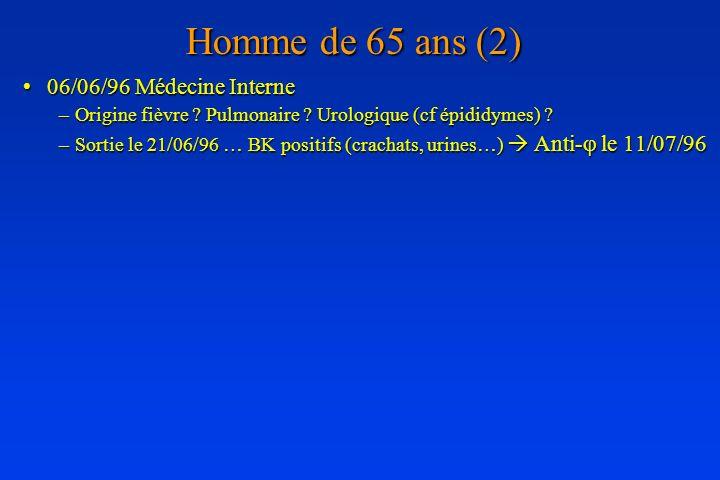 Homme de 65 ans (2) 06/06/96 Médecine Interne