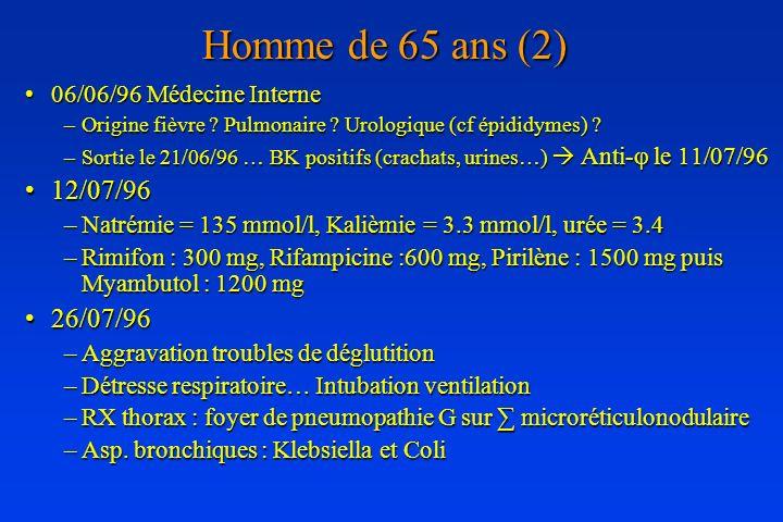 Homme de 65 ans (2) 12/07/96 26/07/96 06/06/96 Médecine Interne