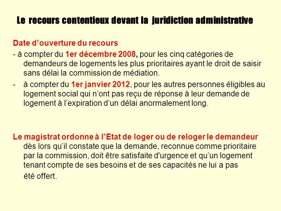 Le recours contentieux devant la juridiction administrative