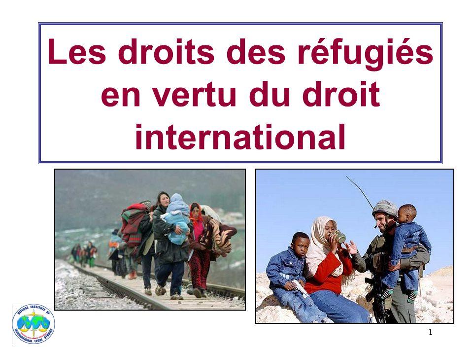 Les droits des réfugiés en vertu du droit international