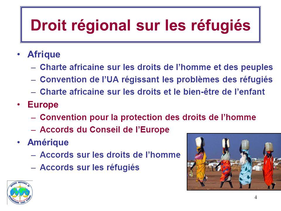 Droit régional sur les réfugiés