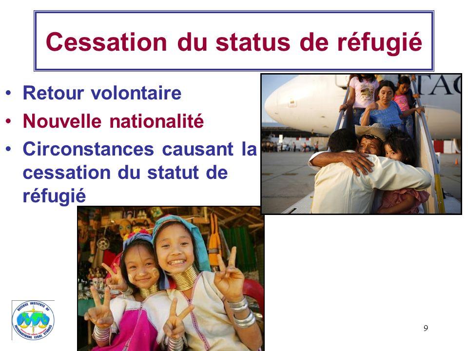 Cessation du status de réfugié
