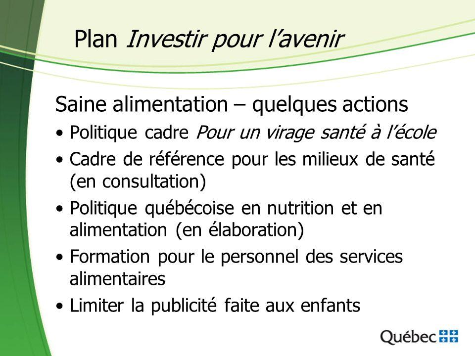 Plan Investir pour l'avenir