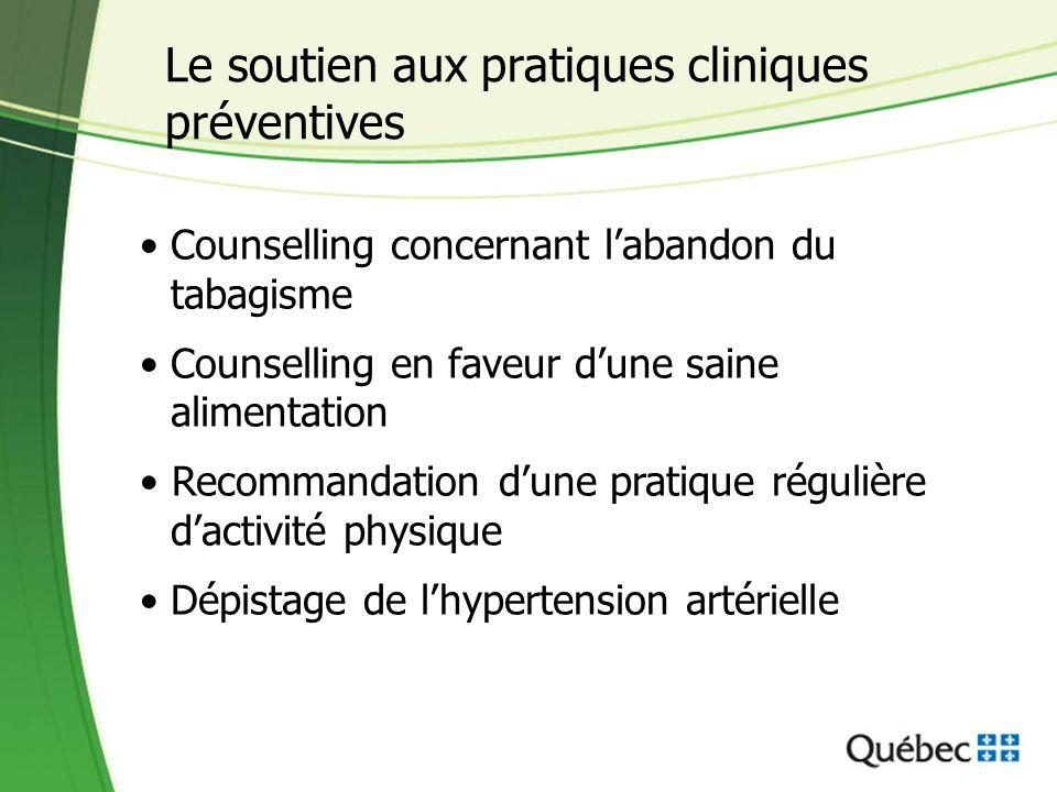 Le soutien aux pratiques cliniques préventives