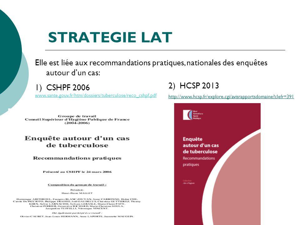 STRATEGIE LAT HCSP 2013. http://www.hcsp.fr/explore.cgi/avisrapportsdomaine clefr=391.