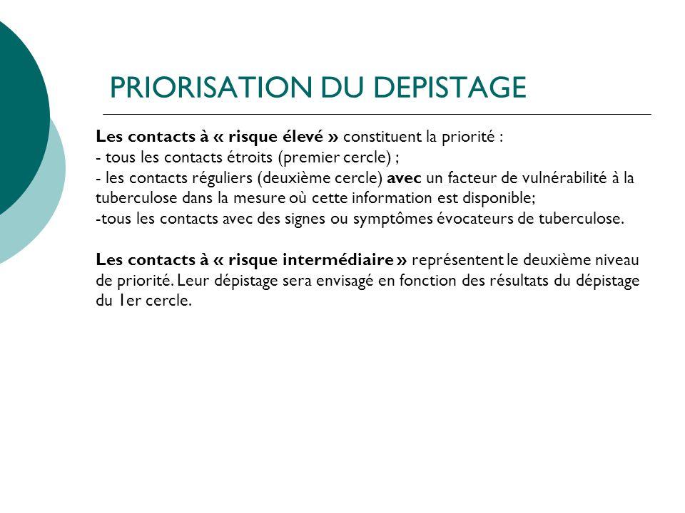 PRIORISATION DU DEPISTAGE