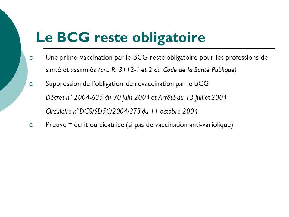 Le BCG reste obligatoire