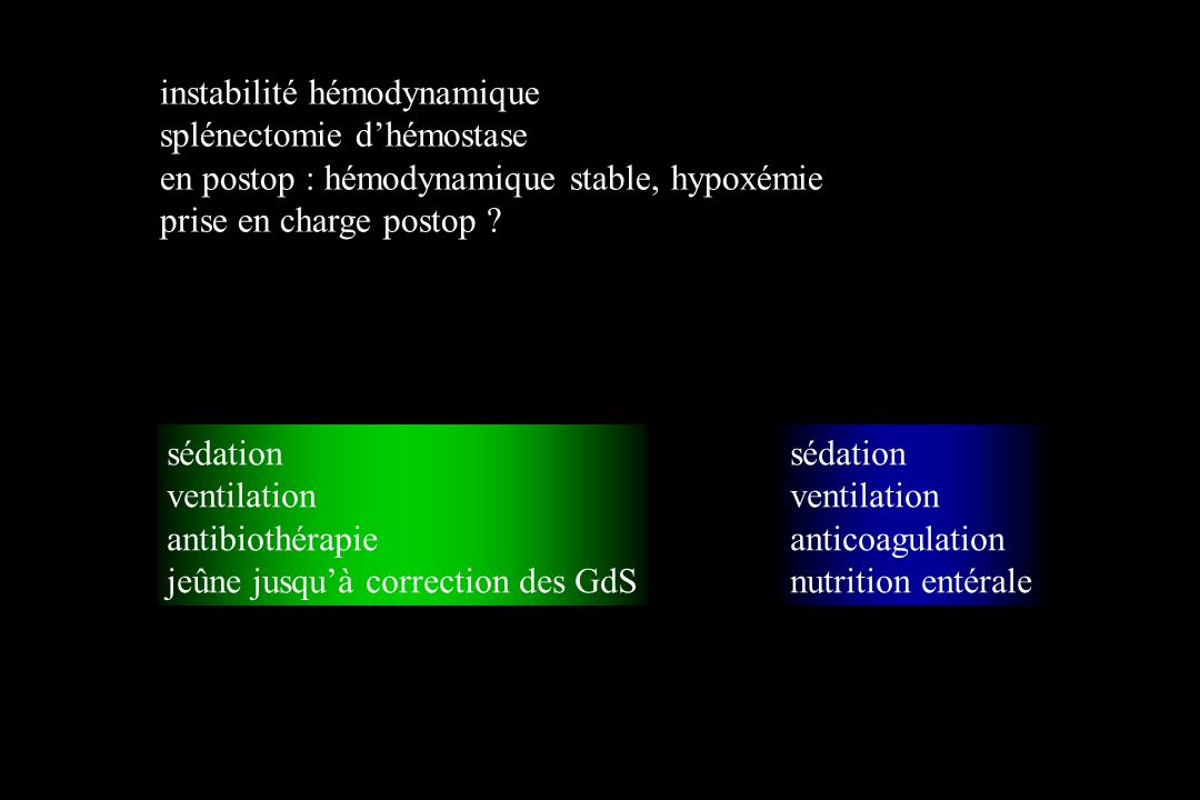 instabilité hémodynamique