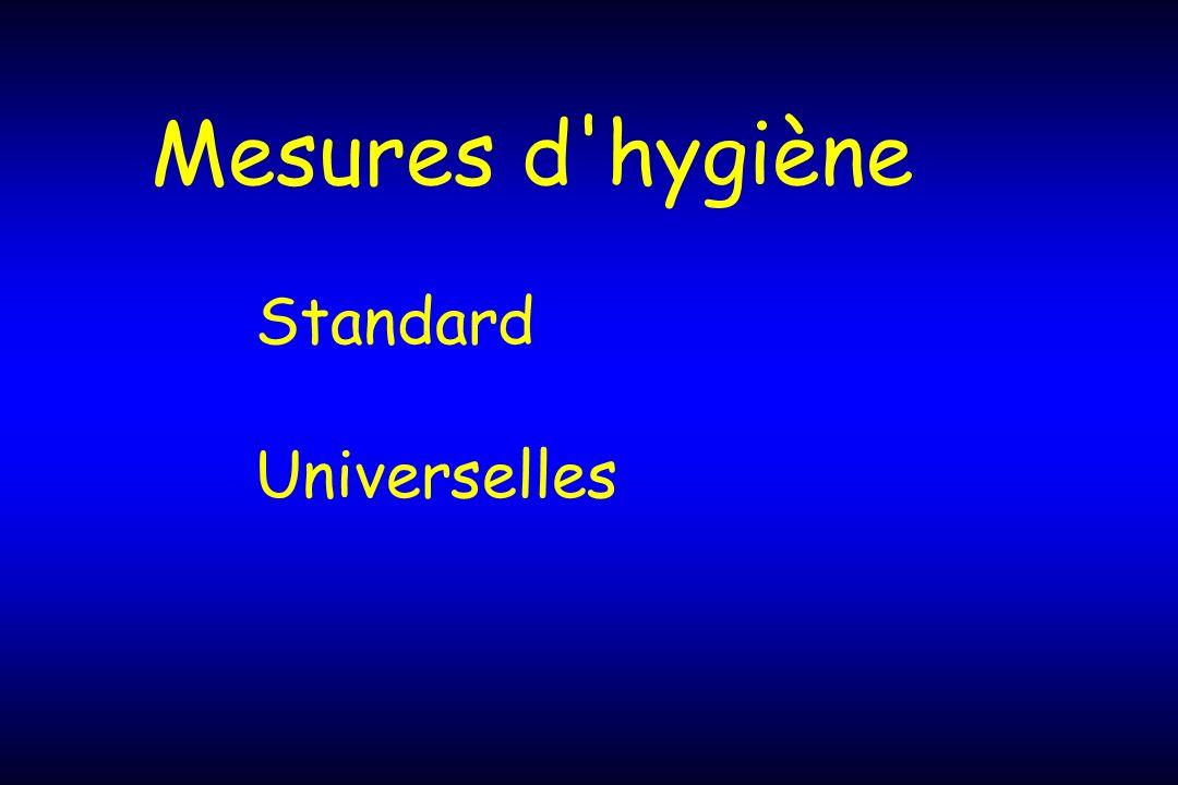 Mesures d hygiène Standard Universelles