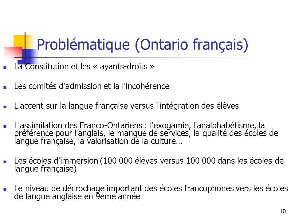 Problématique (Ontario français)