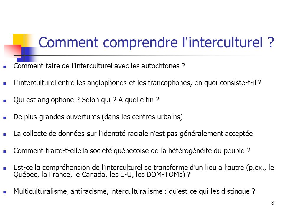 Comment comprendre l'interculturel