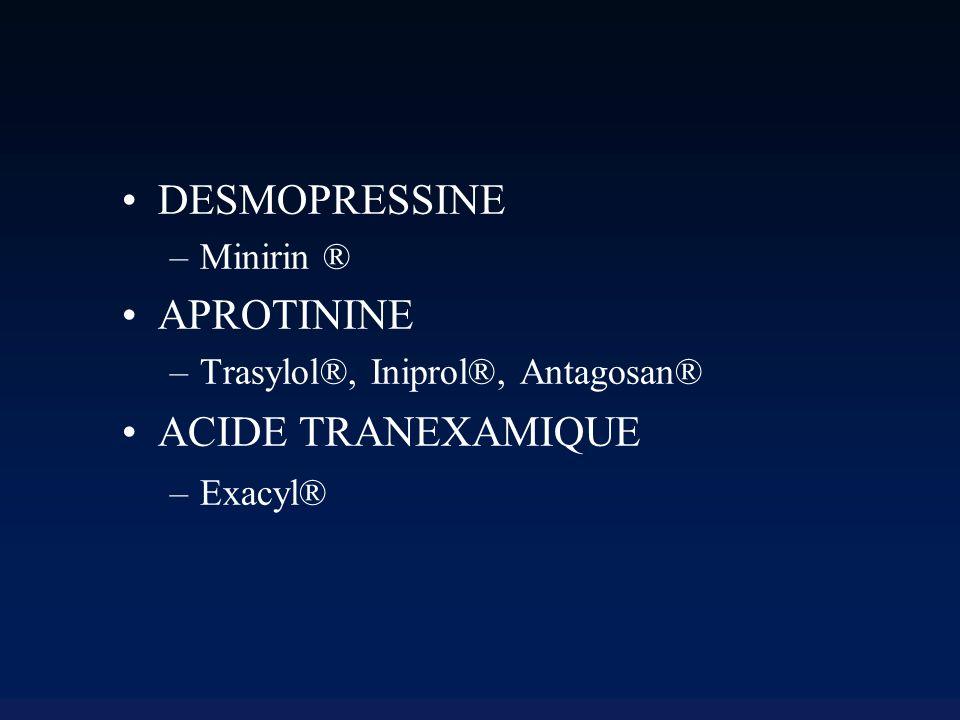 DESMOPRESSINE APROTININE ACIDE TRANEXAMIQUE Minirin ®