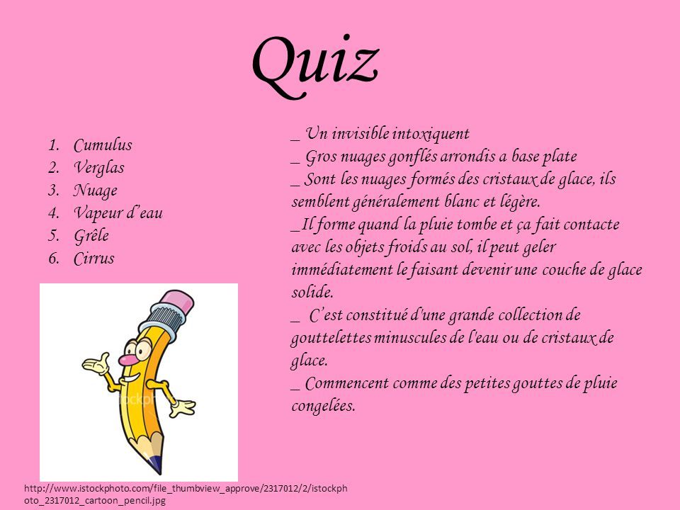 Quiz _ Un invisible intoxiquent