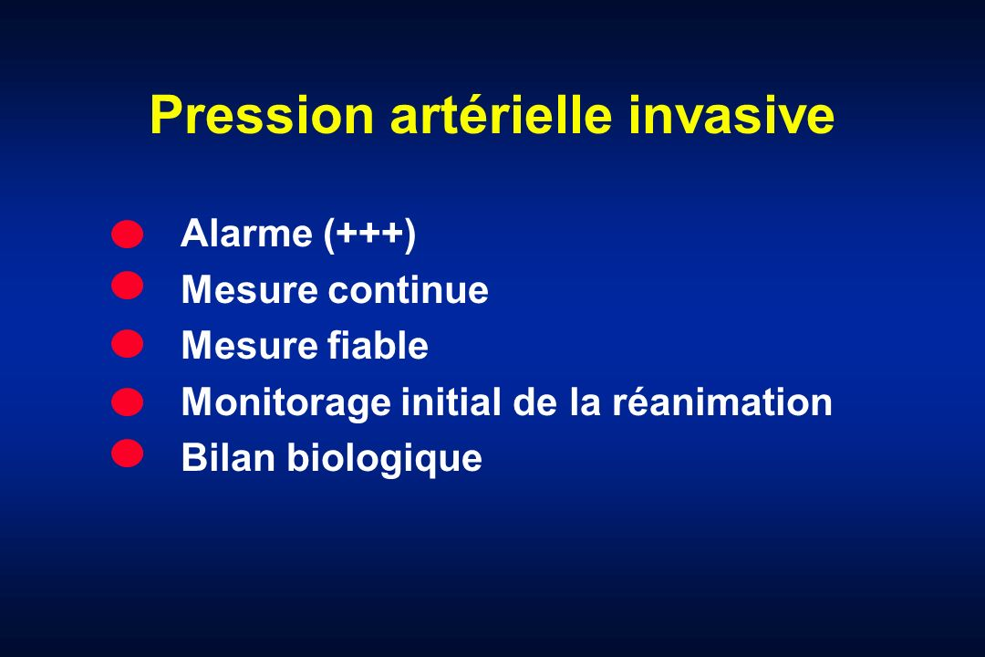 Pression artérielle invasive