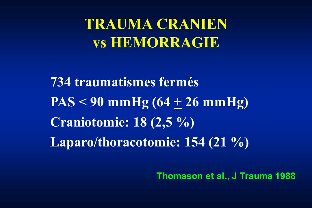 TRAUMA CRANIEN vs HEMORRAGIE