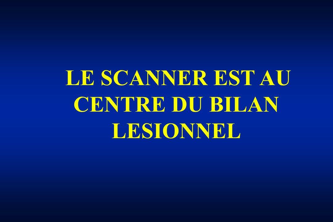 LE SCANNER EST AU CENTRE DU BILAN LESIONNEL
