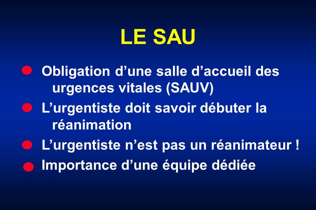 LE SAU Obligation d'une salle d'accueil des urgences vitales (SAUV)