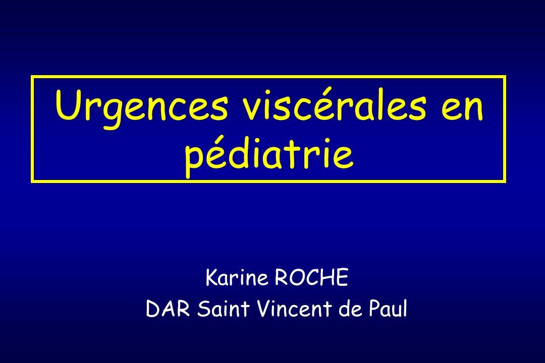 Urgences viscérales en pédiatrie
