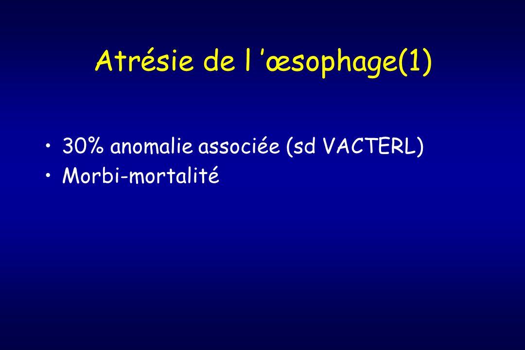 Atrésie de l 'œsophage(1)