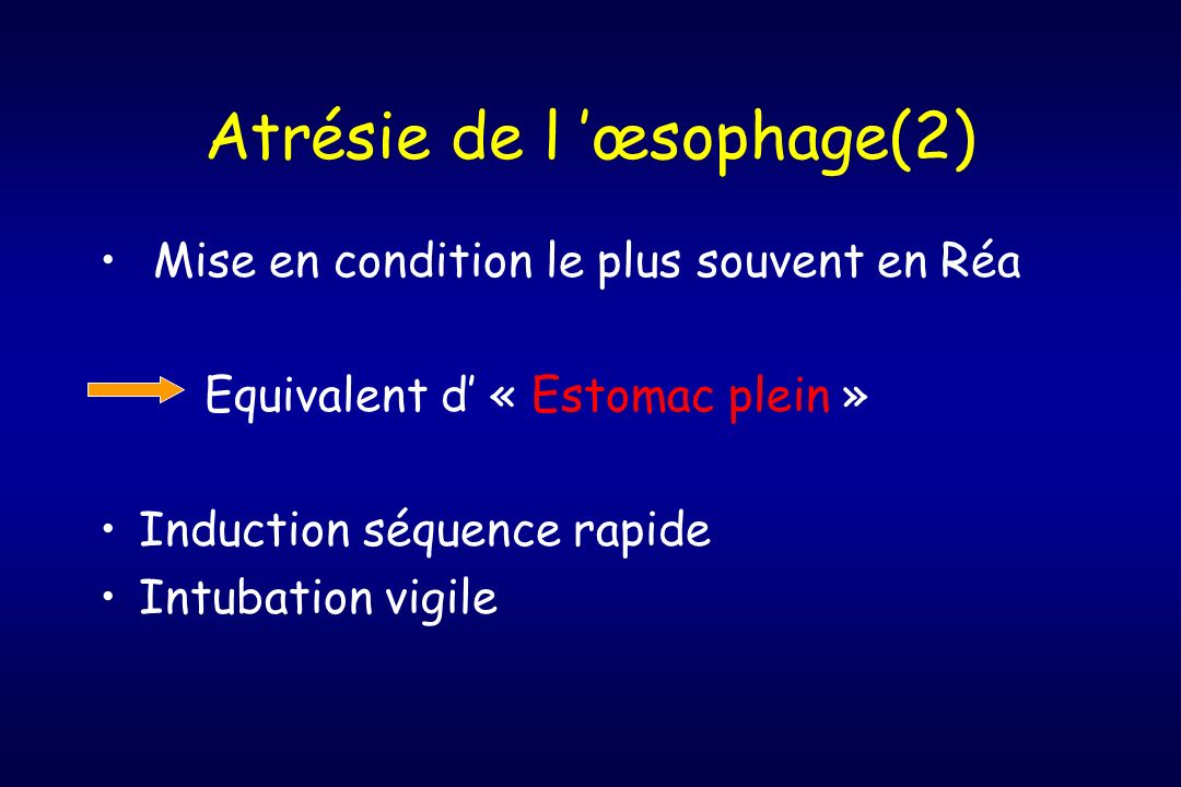Atrésie de l 'œsophage(2)