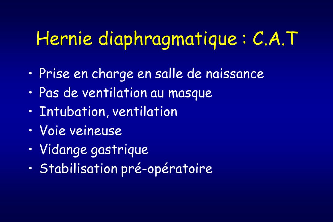 Hernie diaphragmatique : C.A.T