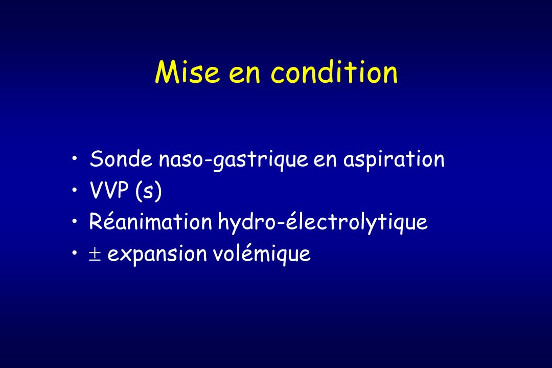 Mise en condition Sonde naso-gastrique en aspiration VVP (s)