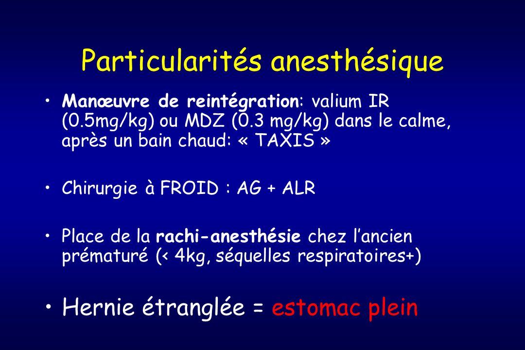 Particularités anesthésique