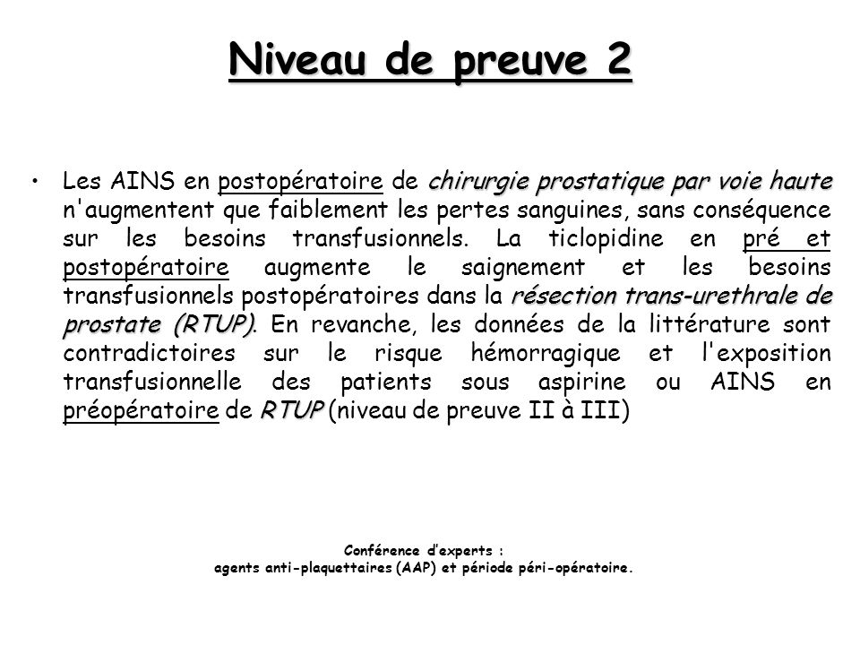Niveau de preuve 2