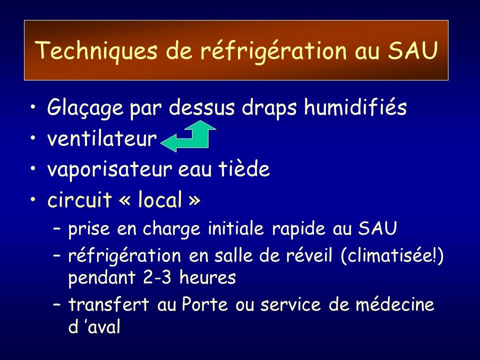 Techniques de réfrigération au SAU
