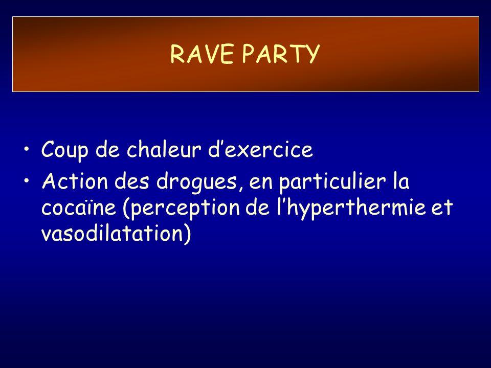RAVE PARTY Coup de chaleur d'exercice