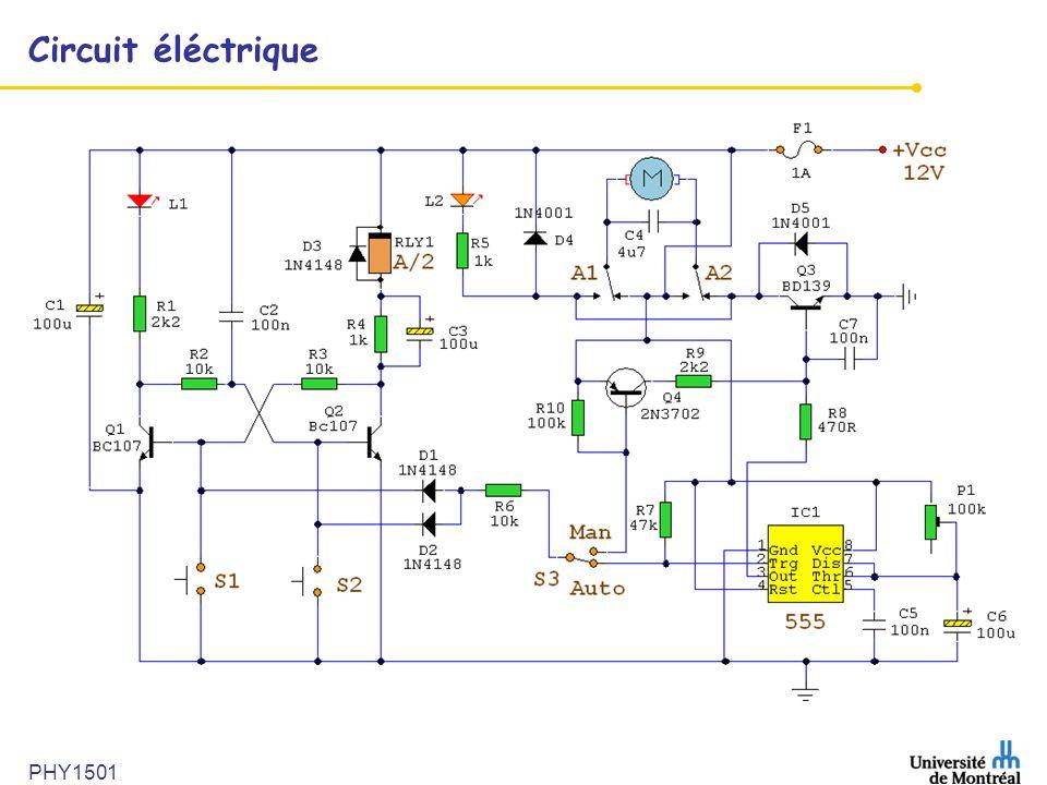 Circuit éléctrique PHY1501