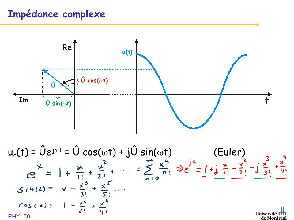 uc(t) = Ûejwt = Û cos(wt) + jÛ sin(wt) (Euler)
