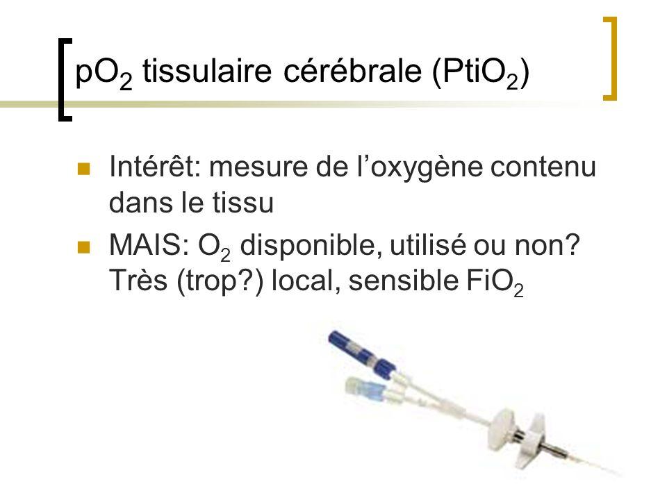pO2 tissulaire cérébrale (PtiO2)